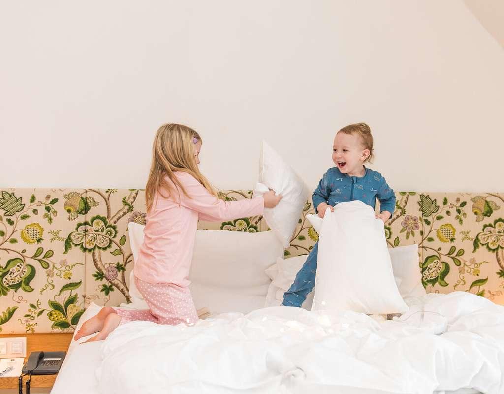 Übernachten in den Zimmern unserer Hotels ... - ... ist nicht nur für die Jüngsten ein Spaß