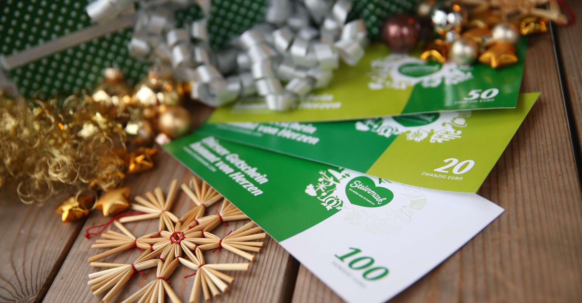 <p>Steiermark Gutschein - die Idee für die verpasste Weihnachtsfeier.</p> Copyright:Steiermarktourismus