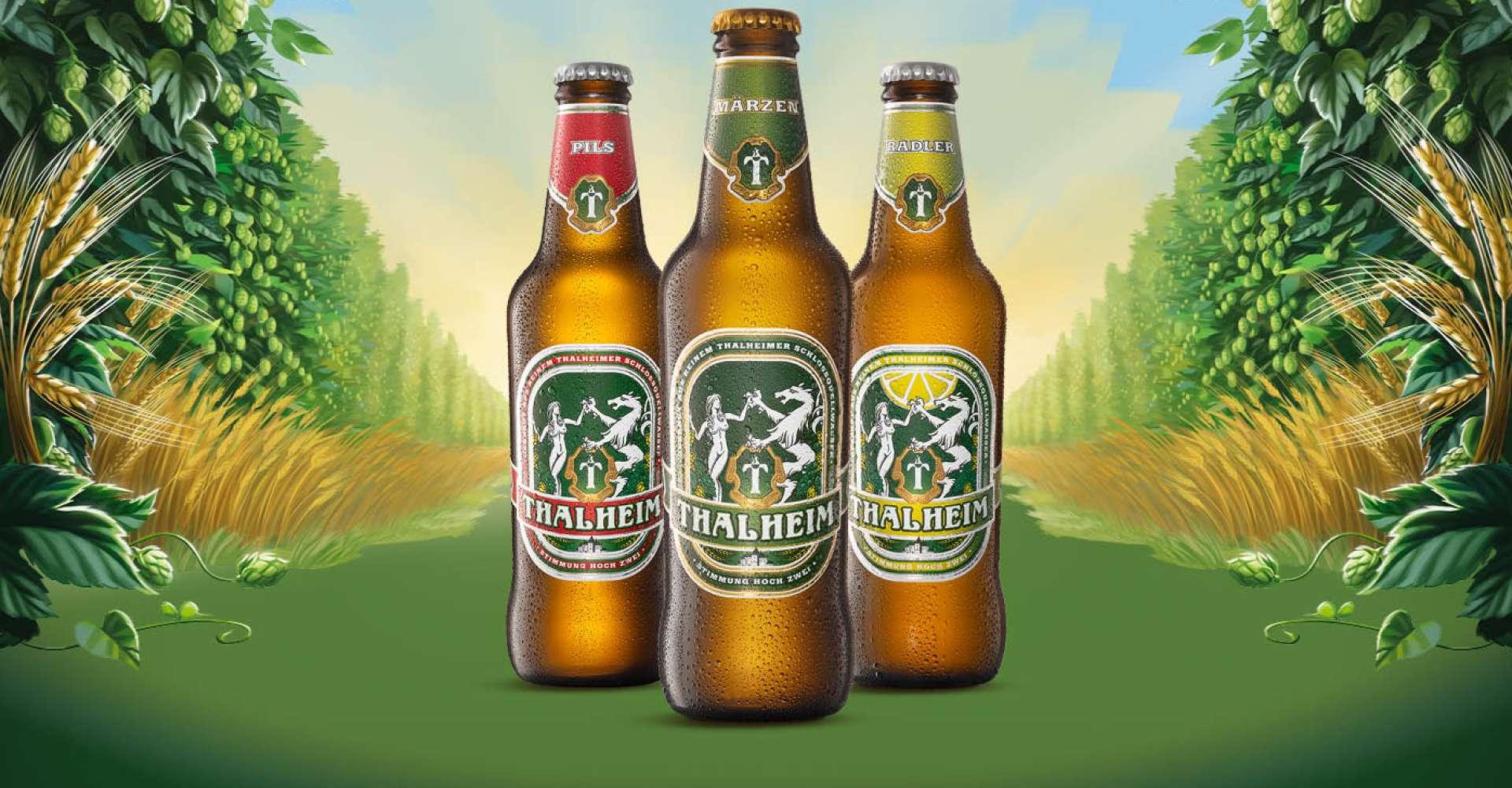 <p>Ob Märzen, Pils oder Radler - Thalheimer Bier ist ein echter Genuss</p>