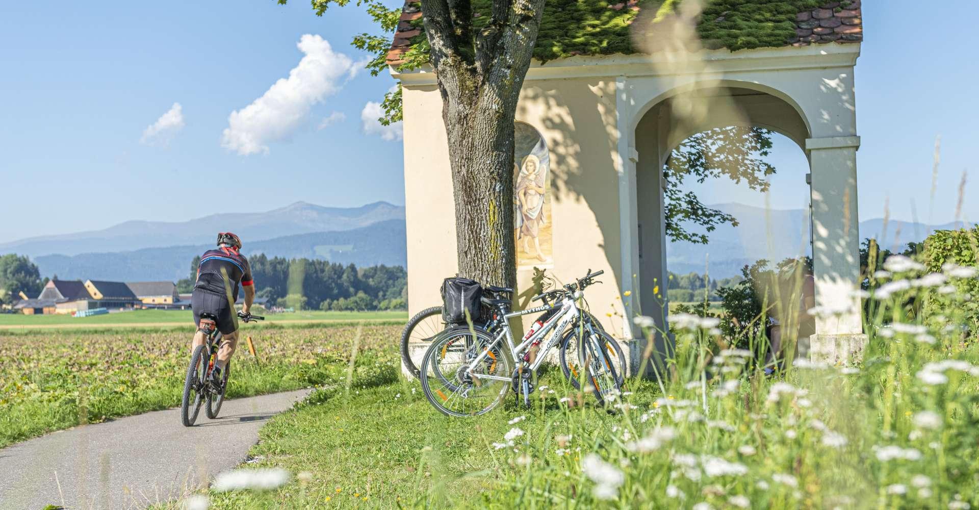 <p>Murradweg - traumhafte Plätze direkt am Murradweg laden alle Radfahrer zur Pause ein. </p> Copyright: