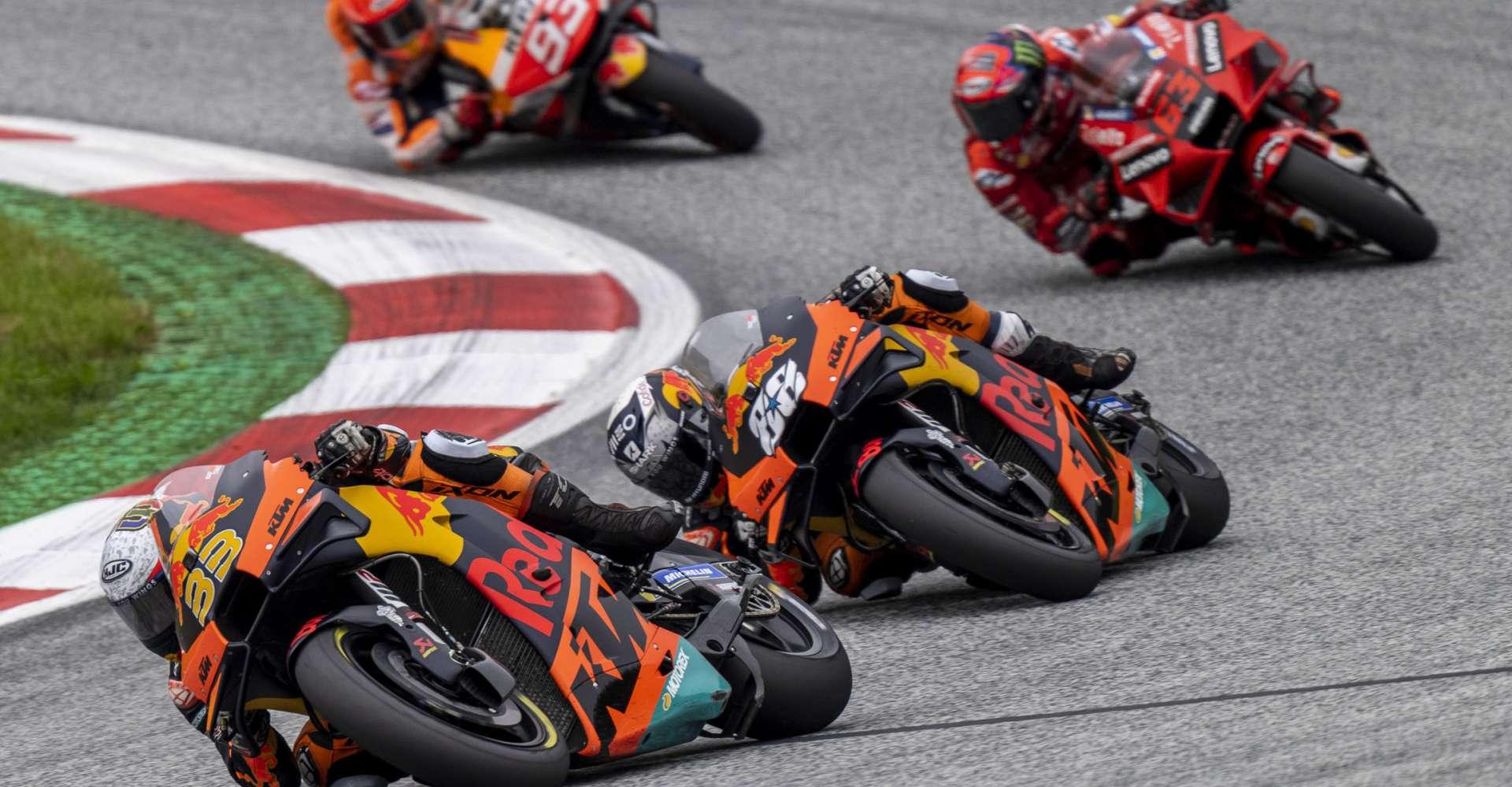 <p>Moto GP Motorräder</p> Copyright: